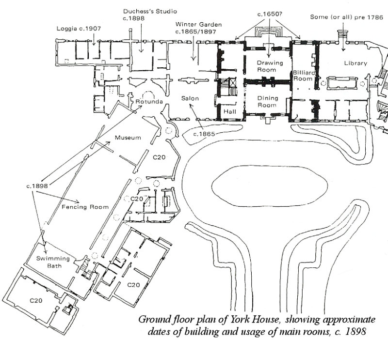 Floor plan of York house c1898